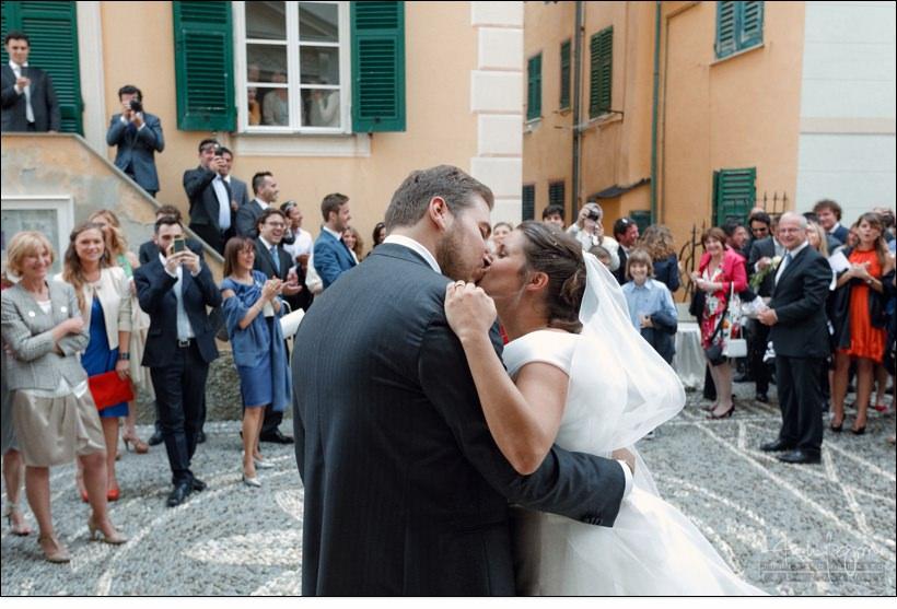bacio uscita sposi assunta camogli