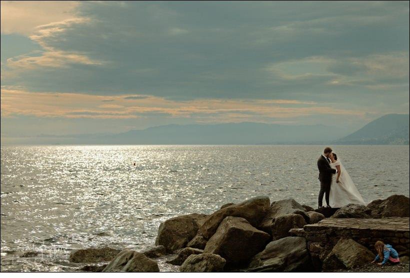 sposi tramonto matrimonio camogli fotografo