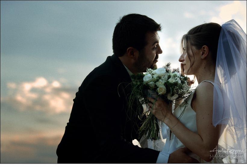 sposi matrimonio tramonto cervo imperia