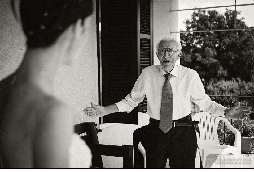 sposa e nonno reportage matrimonio
