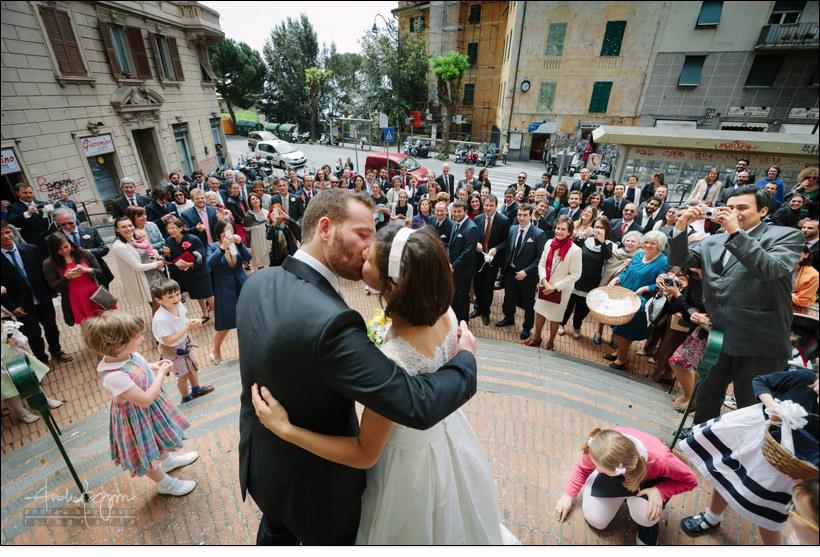 bacio sposi genova castelletto matrimonio