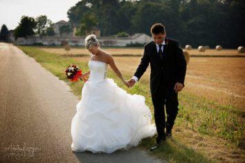 fotografo matrimonio pavia sposi balle fieno