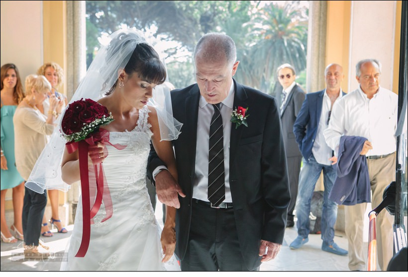 ingresso sposa villa cambiaso