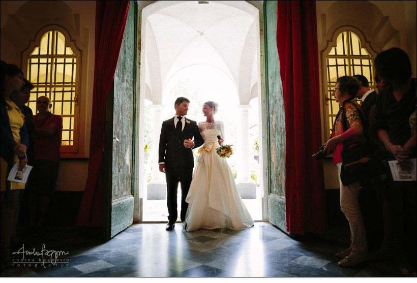 ingresso sposi matrimonio reportage genova