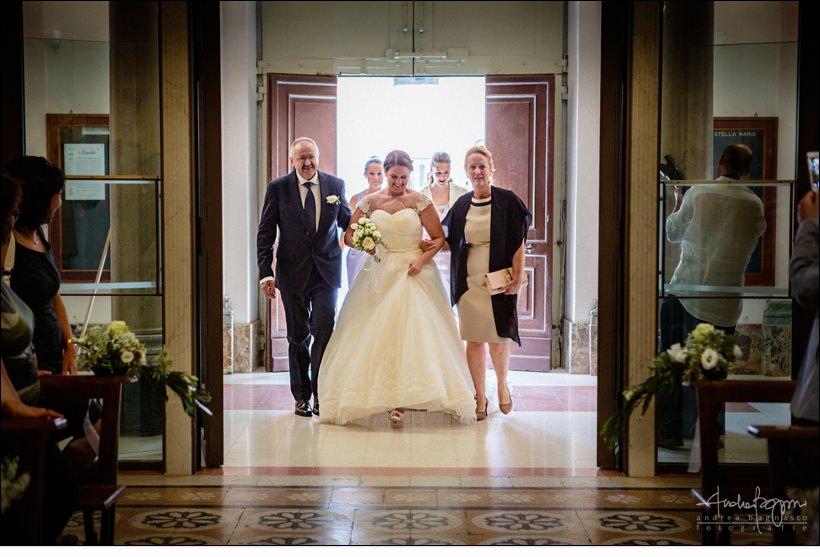 ingresso sposa stella maris albisola