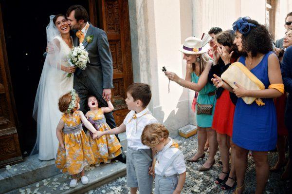 uscita sposi matrimonio reportage
