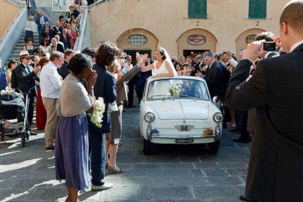 bianchina auto matrimonio vintage