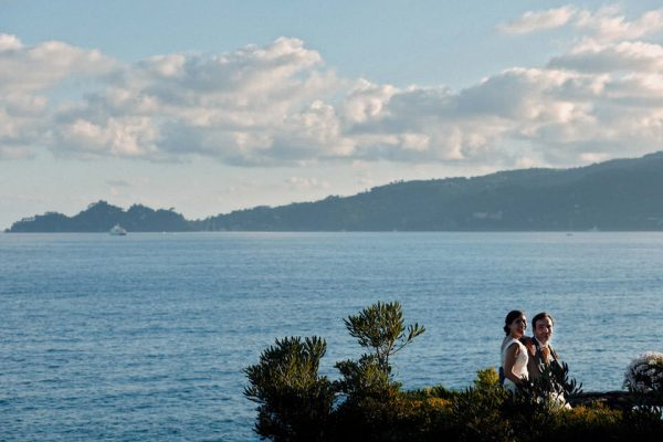 promontorio portofino sposi matrimonio liguria