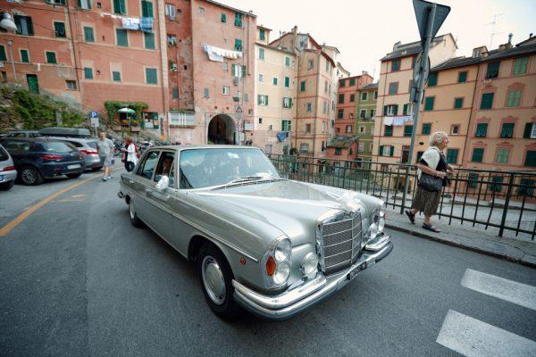 mercedes vintage auto matrimonio camogli