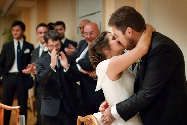 bacio sposi reportage matrimonio genova