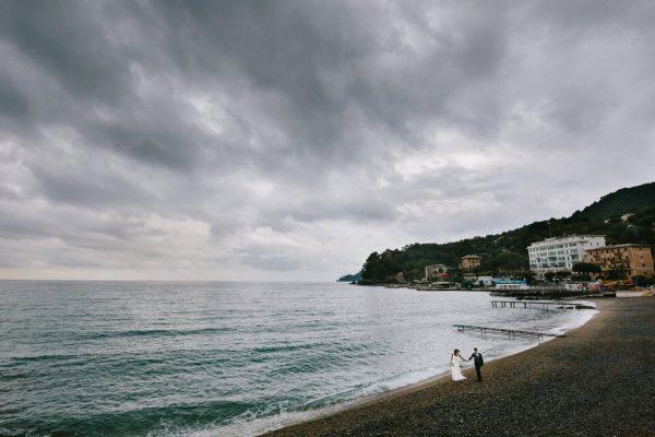 sposi spiaggia santa margherita matrimonio