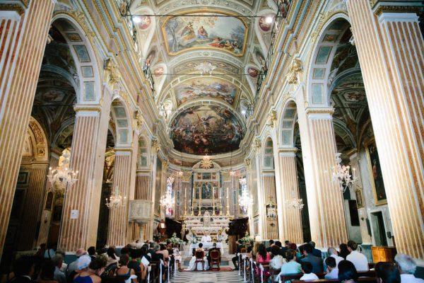 navata principale chiesa san michele celle ligure matrimonio