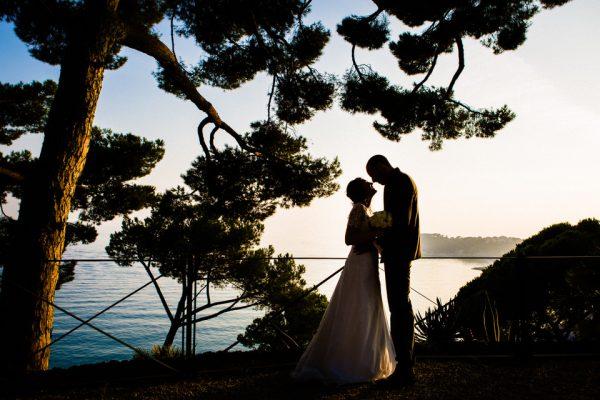 sposi tramonto villa lagorio celle ligure