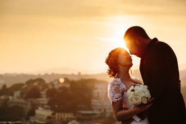 matrimonio villa lagorio tramonto sposi
