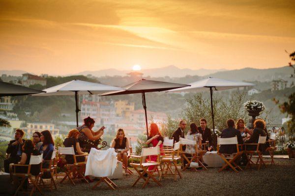 aperitivo tramonto matrimonio villa lagorio
