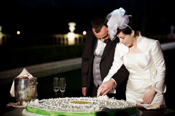 taglio torta nuziale villa lo zerbino genova