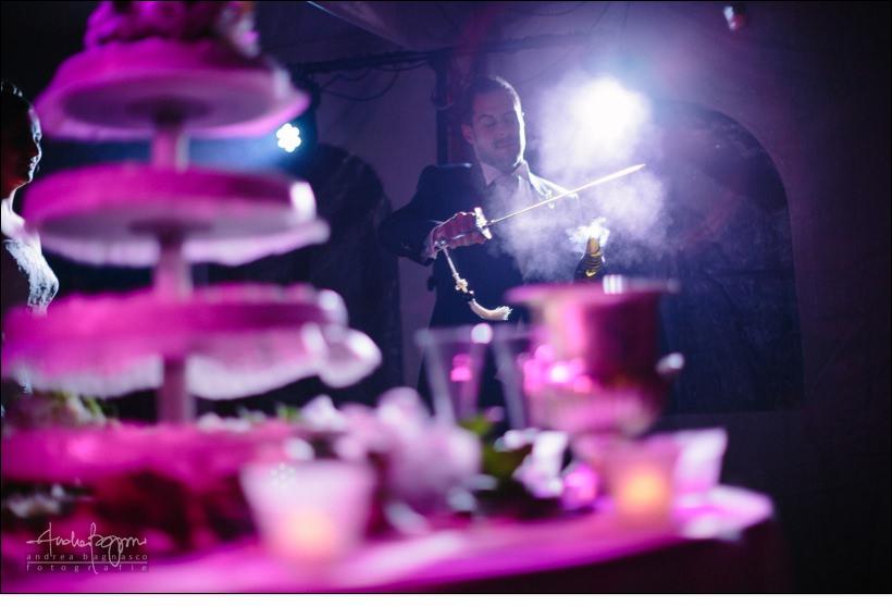 sciabola champagne matrimonio la ginestra wedding