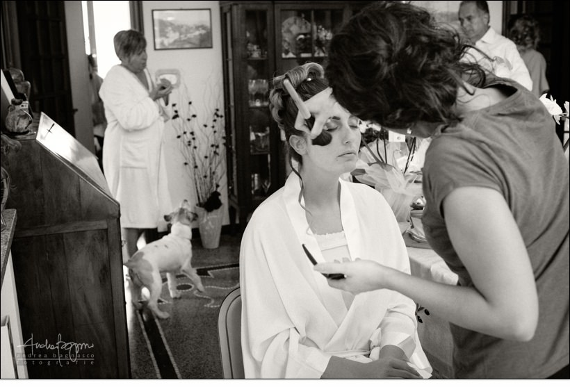 bride getting ready italy wedding