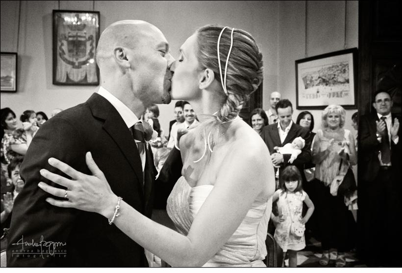 bacio sposi matrimonio arenzano genova