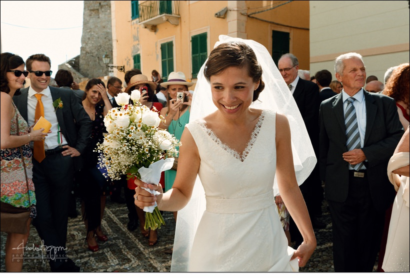 bride italy camogli wedding