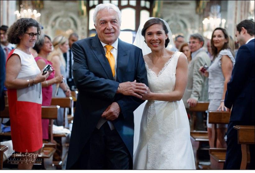 ingresso sposa chiesa assunta camogli