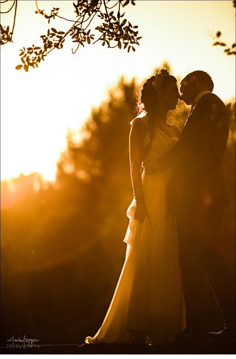 ritratto sposi controluce matrimonio alassio