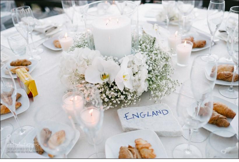 dettagli tavola baba beach wedding alassio
