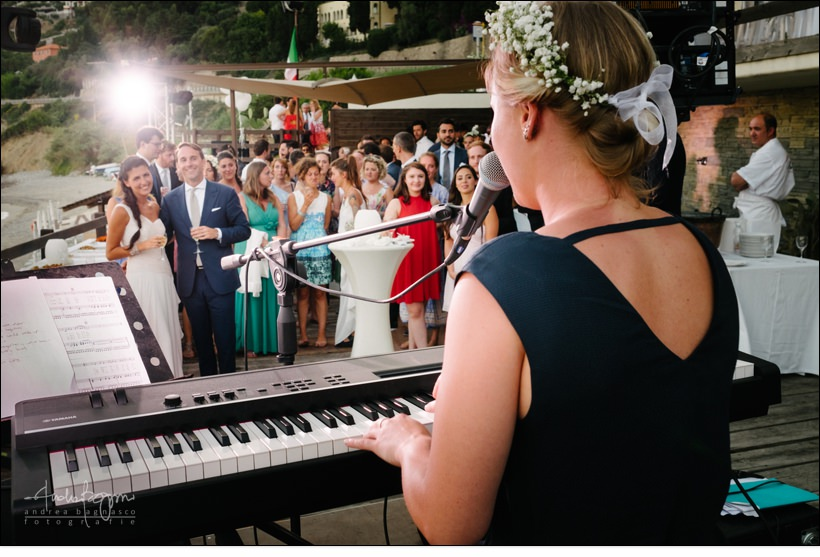 live music baba beach wedding alassio