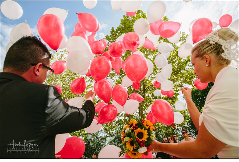 palloncini matrimonio reportage