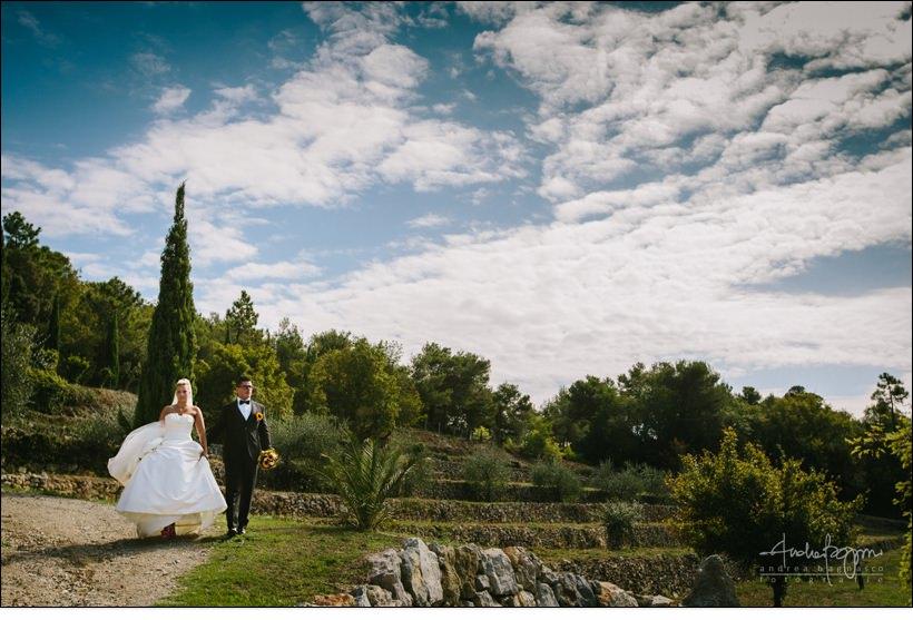 ritratto sposi cipressi uliveto matrimonio