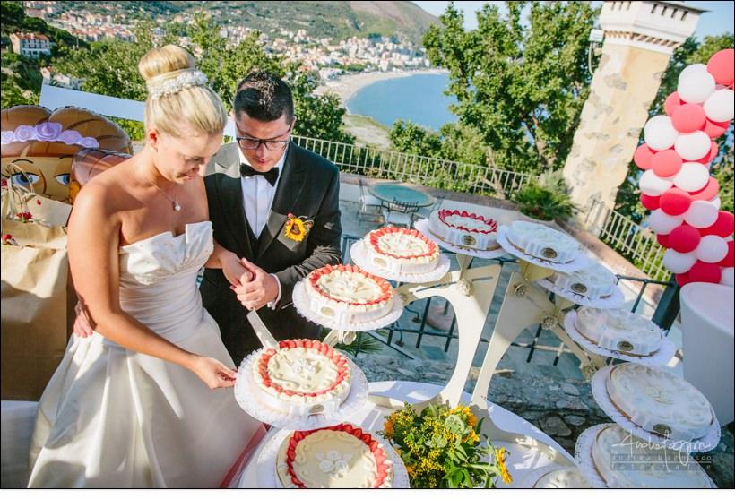 taglio torta matrimonio paradiso manu noi