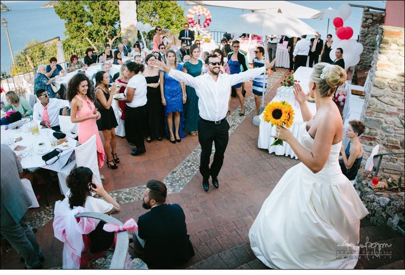lancio bouquet matrimonio paradiso manu noi