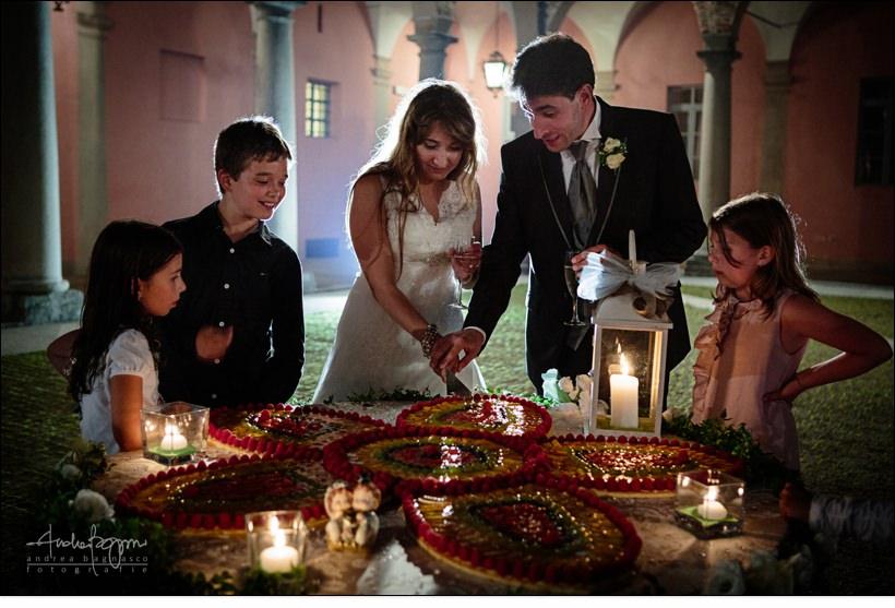 taglio torta castello vicoforte matrimonio