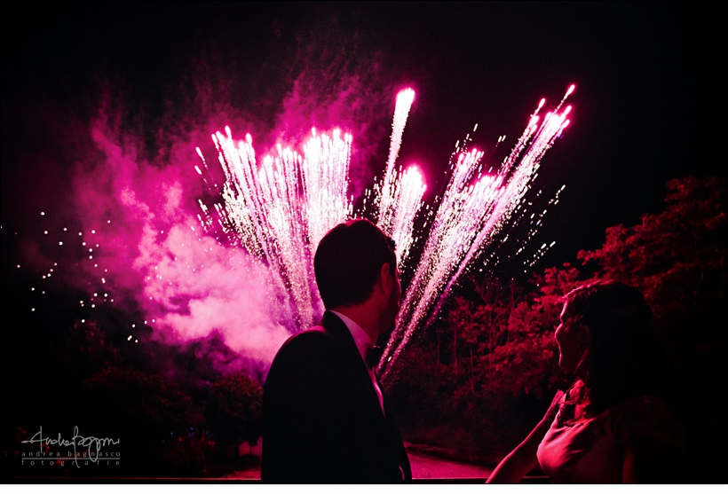 fireworks italy elegant wedding monferrato
