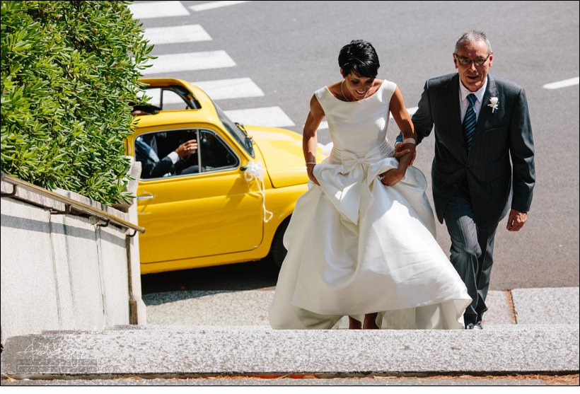 arrivo sposa matrimonio celle ligure san michele