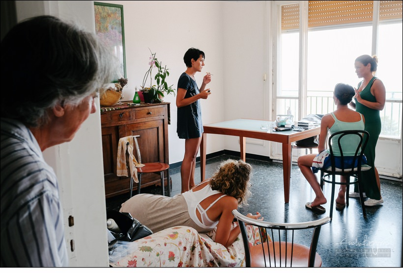 reportage matrimonio savona preparazione sposa
