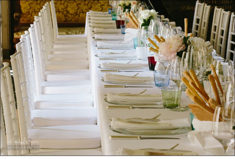 mise en place matrimonio real collegio wedding torino
