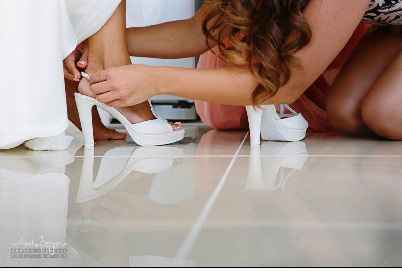 dettagli scarpa sposa matrimonio