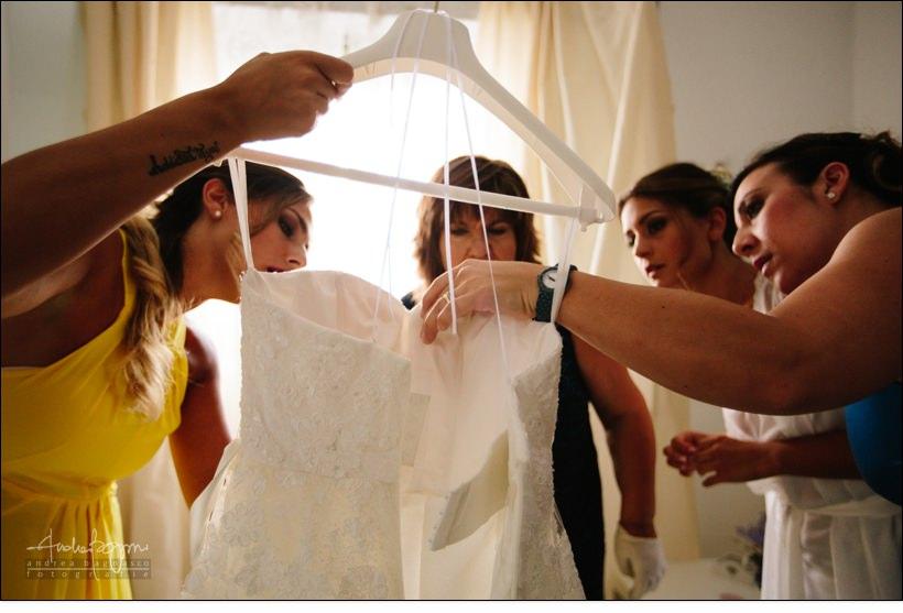 dettaglio abito sposa matrimonio country chic la ginestra