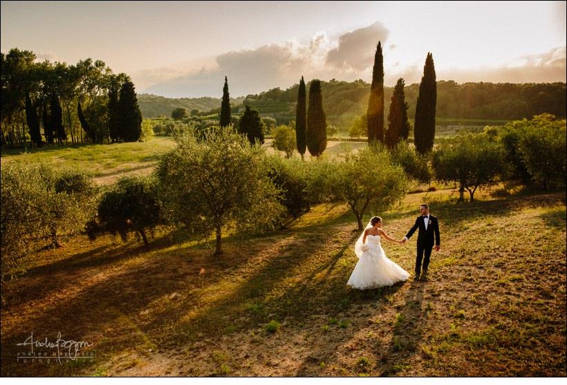italy country wedding sunset matrimonio la ginestra