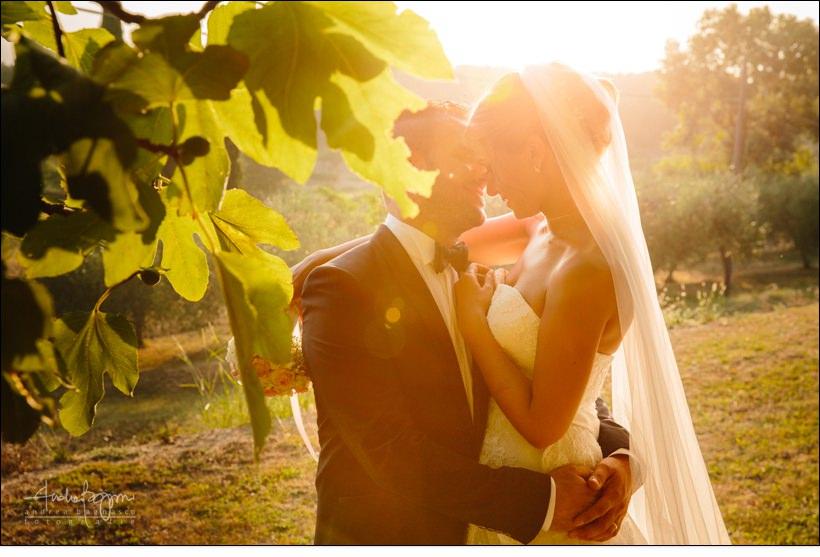 emotional wedding italy country sunset