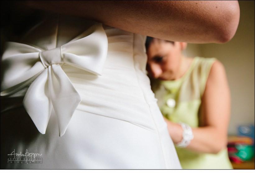 dettaglio abito sposa reportage matrimonio shabby chic
