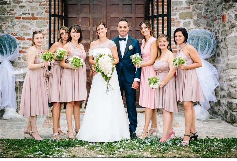 foto gruppo damigelle matrimonio shabby chic