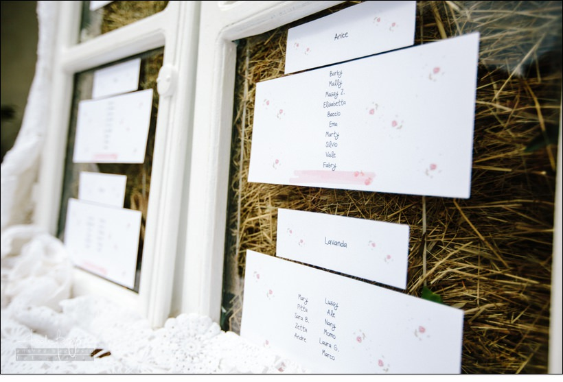 tableau de marriage matrimonio shabby chic relais monastero