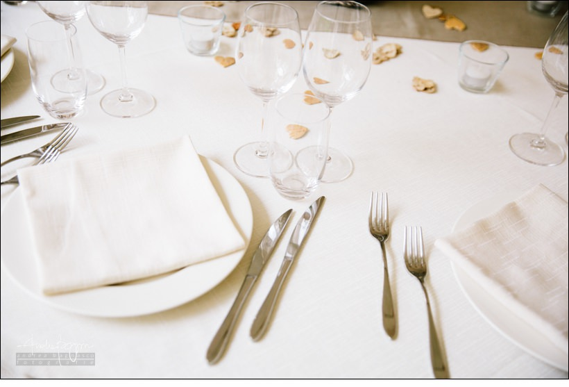 dettaglio tavola matrimonio shabby chic relais monastero