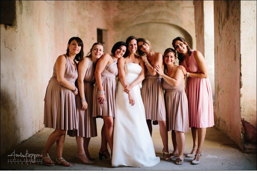 foto gruppo matrimonio shabby chic relais monastero