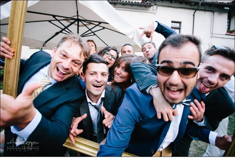 amici cornice foto matrimonio
