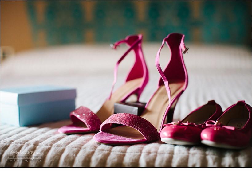 scarpe sposa fucsia matrimonio