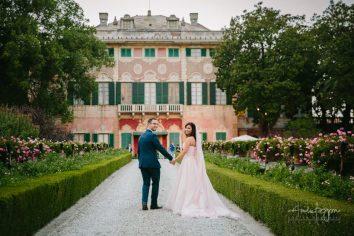 sposi panoramica matrimonio villa faraggiana albissola