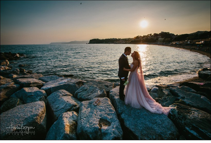 romance wedding italy sea